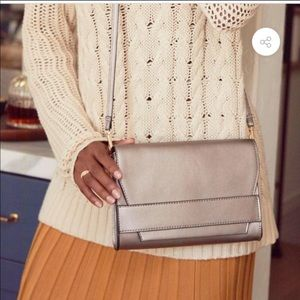 Summer & Rose Celine crossbody clutch in steel